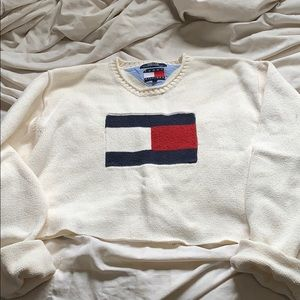 Vintage Tommy sweater cropped